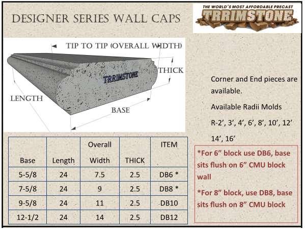 Affordable Eco Series Concrete Wall Caps Precast Trrimstone