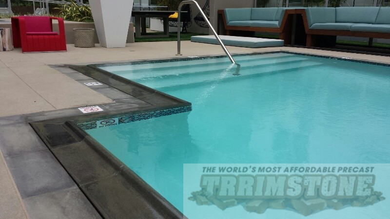 Precast Concrete Coping : Commercial pool coping for condos apartments health
