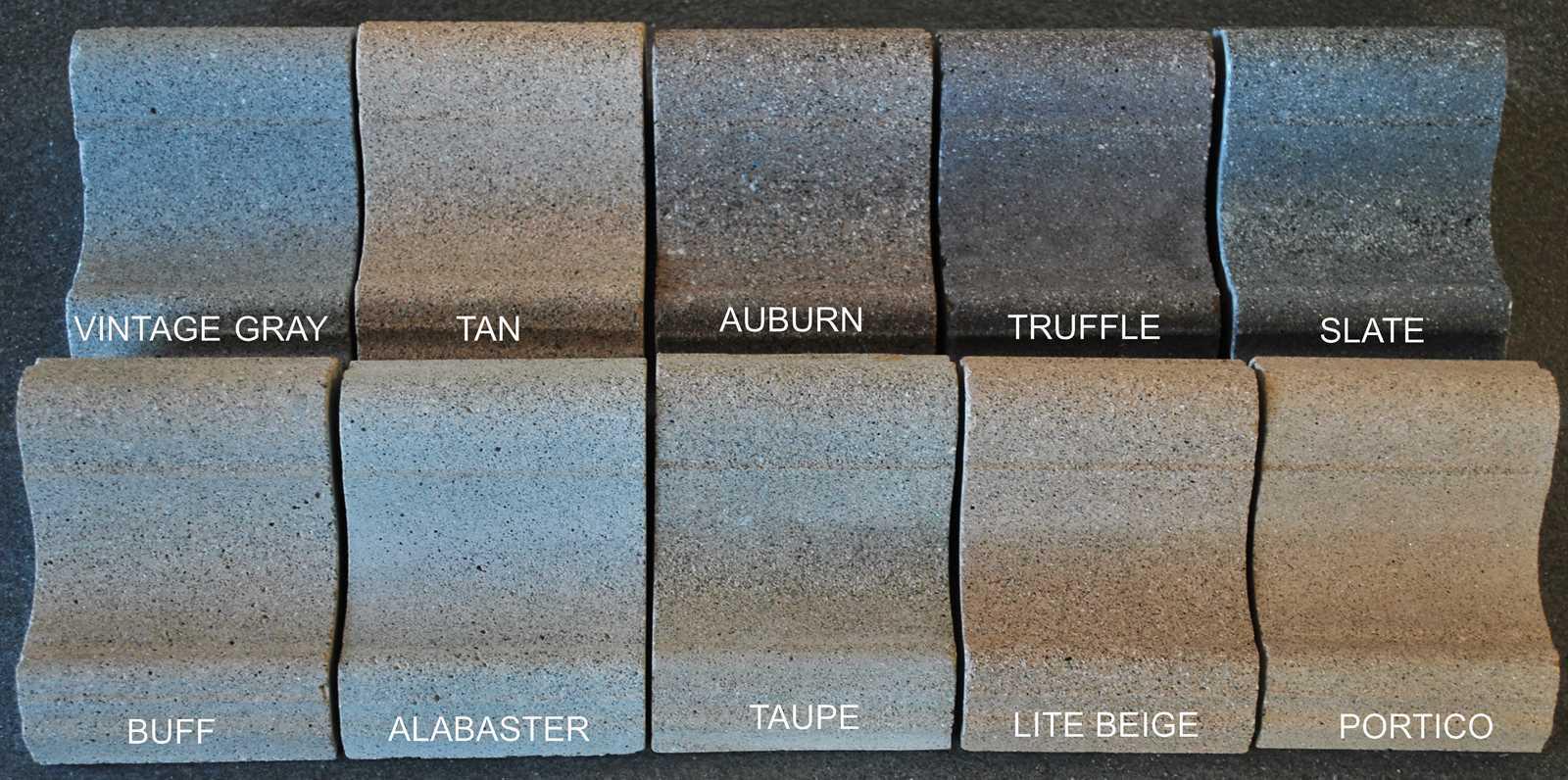 pool coping - lime stone finish | precast concrete